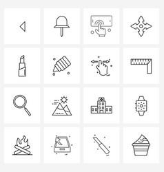Ui set 16 basic line icons eyedropper goods vector