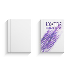 violet abstract book cover design template vector image