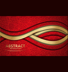 wave abstract overlap layer on black stripes vector image
