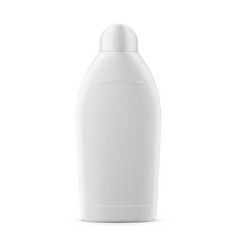 White glossy vanishing liquid bottle template vector