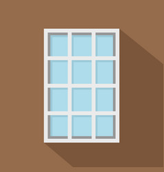 white latticed rectangle window icon flat style vector image