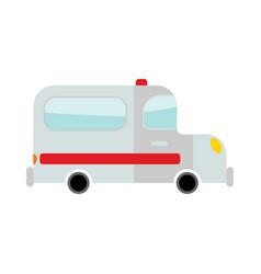 ambulance isolated transport on white background vector image