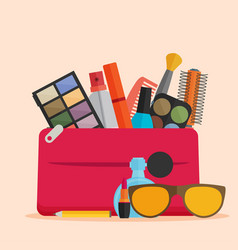 flat design of make up vector image vector image