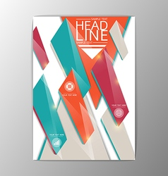 A4 Abstract Brochure Background Geometric design vector image