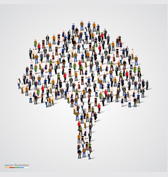 large tree formed out of people vector image vector image