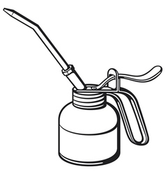 oil can vector image vector image