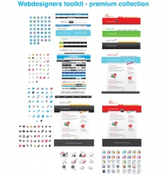 premium web collection vector image vector image
