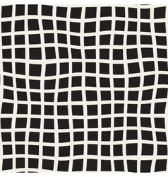 Seamless Black and White Distorted Square vector image