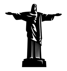 Statue of Christ the Redeemer vector image vector image