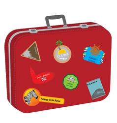 suitcase baggage vector image vector image