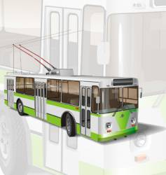 urban trolleybus vector image vector image