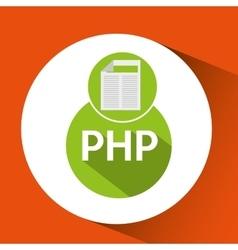 web development document php vector image