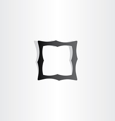black empty frame icon vector image vector image