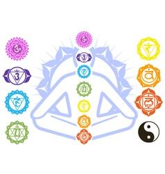 Chakras and spirituality symbols vector image vector image