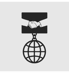 Medal Handshake symbol vector image