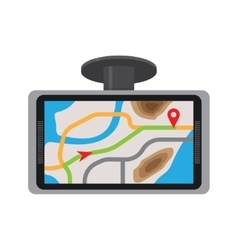 Mobile gps navigation with map vector image vector image