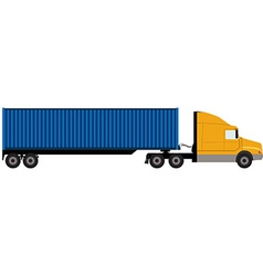 Truck with container vector image vector image