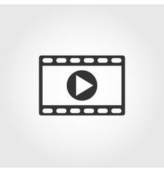 video icon flat design vector image vector image