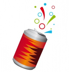 aluminum can vector image