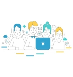 Creative team working together Human resources vector image