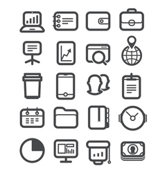 Different business icons set vector image vector image