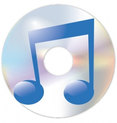 note and cd vector image