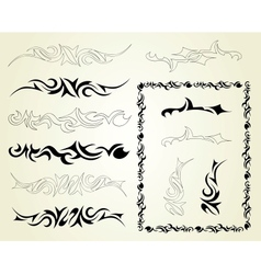 Set ornaments tattoo vector image vector image
