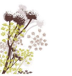 wildflowers in autumn colours vector image
