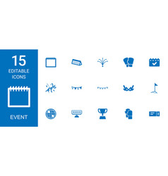 15 event icons vector
