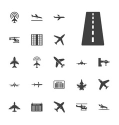 22 airline icons vector