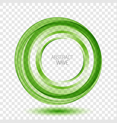 abstract background round green wavy circle vector image