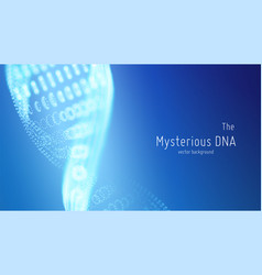 abstract blue dna double helix vector image