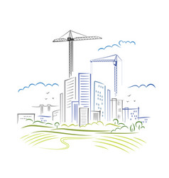 Abstract city development vector