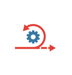 Agile icon simple flat element from content vector