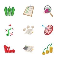 Analytics icons set cartoon style vector image