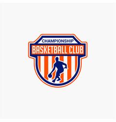 basketball club badge logo-7 vector image