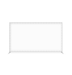 Billet press wall with blank banner mobile trade vector