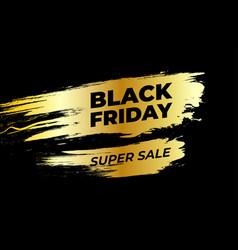 black friday design black text on gold grunge vector image