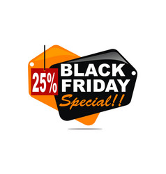 black friday special discount 25 percent vector image