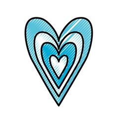 blue heart love happy celebration icon vector image
