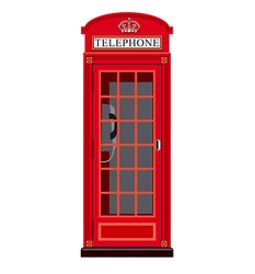 booth phone in london vector image