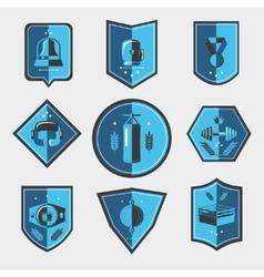 Boxing emblems set vector image