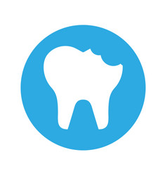 Broken tooth isolated icon vector