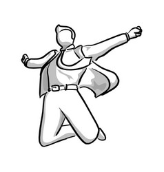 Businessman jumping with happiness vector