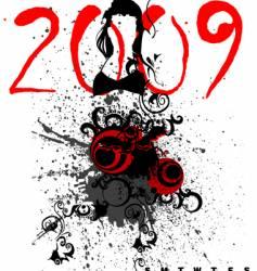 Calendar 2009 vector