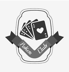 Casino club design vector