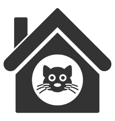 Cat House Flat Icon vector