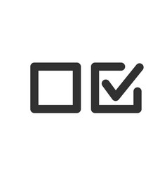 Check uncheck concept checkbox set with blank and vector