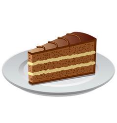Chocolate bisquit tart vector