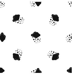 Cloud with hail pattern seamless black vector